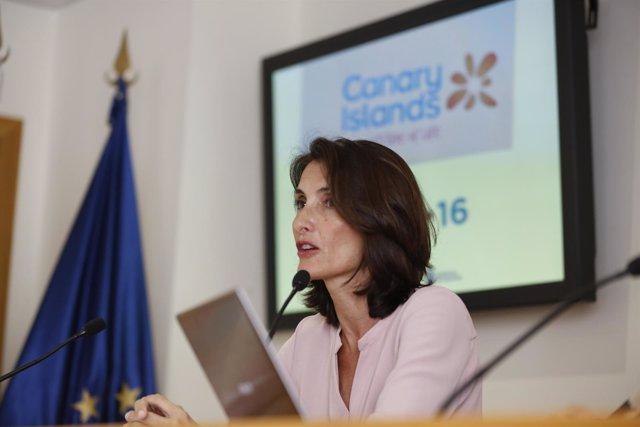 La consejera de Turismo del Gobierno de Canarias, Mariate Lorenzo.