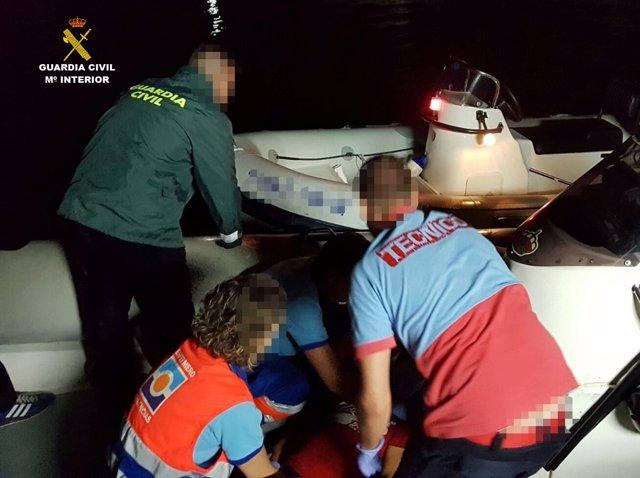 Rescate en la Ría de Huelva