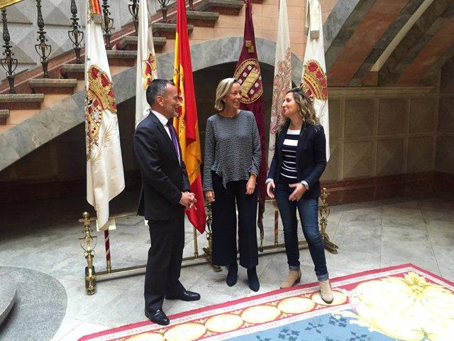 Portavoces del PP en los Ayuntamientos de A Coruña, Santiago y Ferrol
