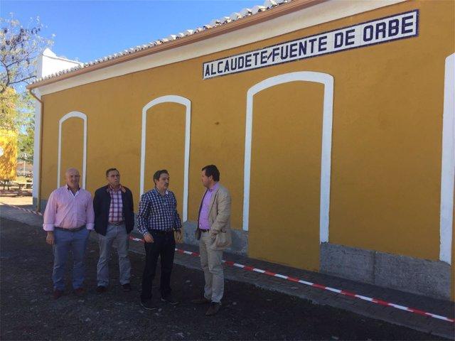 Visita a la estación de tren de Alcaudete