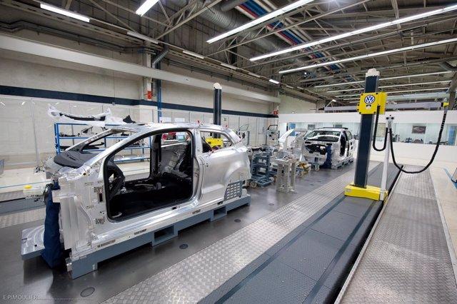 Fabricación del Polo en la fábrica de Volkswagen Navarra.