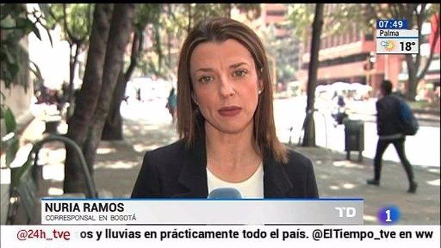 La corresponsal de RTVE en Colombia, Nuruia Ramos