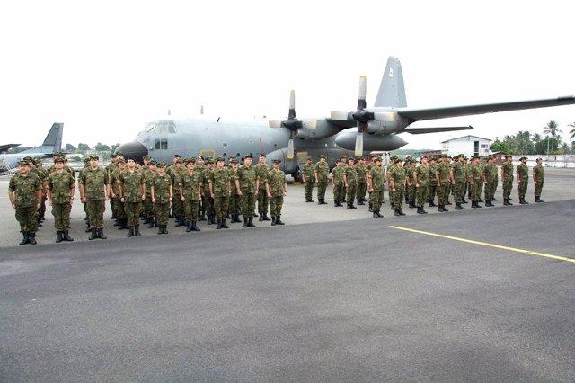 Destacamento Mamba del Ejército del Aire en Libreville (Gabón)