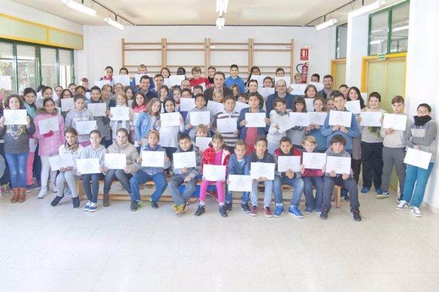 Realización del programa 'Despierta' en uno de los centros de Torremolinos.
