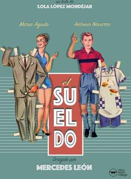 Cartel el Sueldo que se representa en Microteatro Málaga