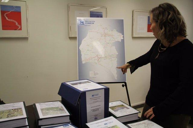 Diputación inicia obras en carreteras de la provincia de Huelva