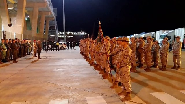 Militares españoles parten desde Melilla para un misión internacional en Irak