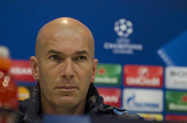Zidane en rueda de prensa en Champions