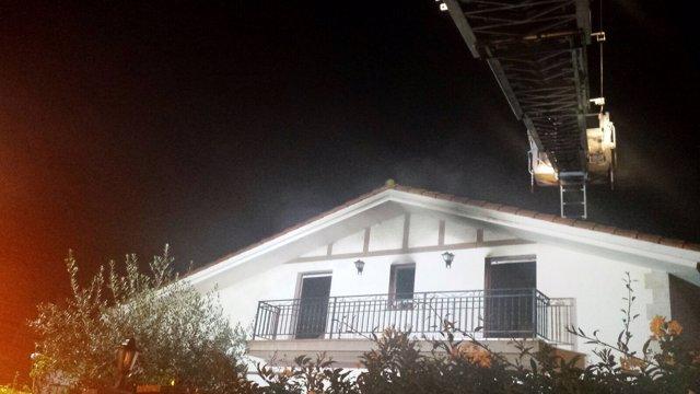 Incendio en la vivienda de LIendo