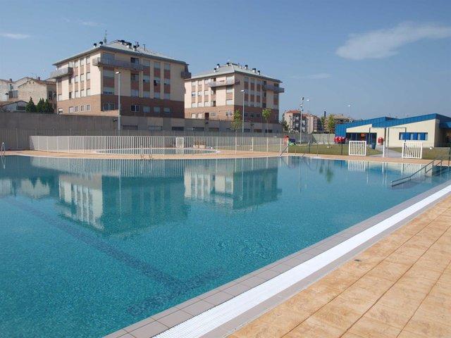 Imagen de las piscinas de Varea, en Logroño