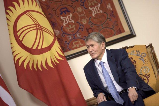 Almazbek Atambayev, presidente de Kirguistán