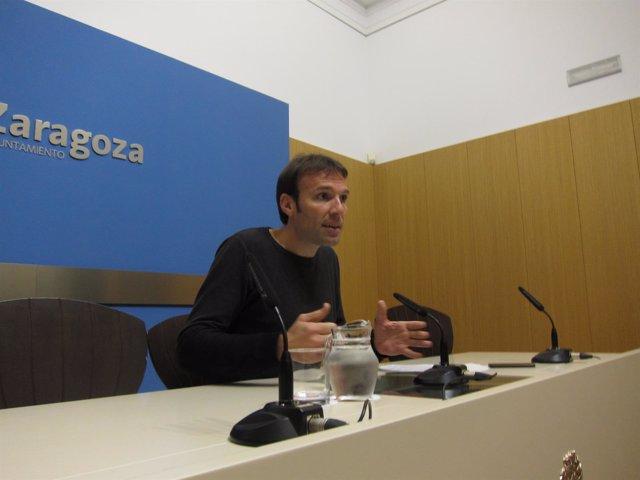 Pablo Muñoz, este miércoles en rueda de prensa en el Ayuntamiento