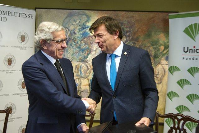 Imagen del acuerdo entre la UCM y Fundación Unicaja