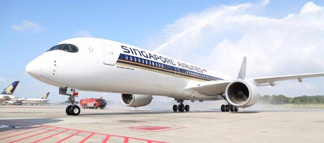 Avión de Singapores Airlines