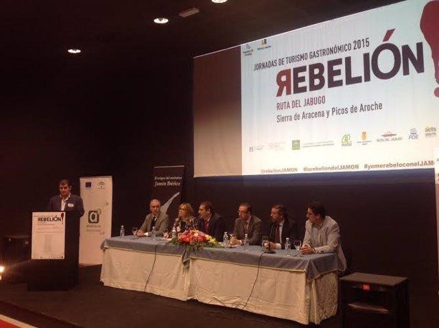 Jornadas de la Rebelión del Jamón en Jabugo (Huelva).