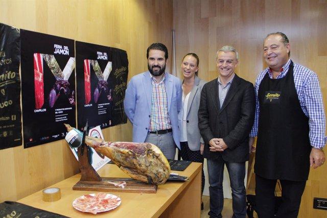 Feria del Jamón de Campillos presentación en la diputación Florido
