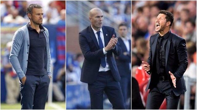 Luis Enrique, Zidane y Simeone, candidatos a entrenador FIFA