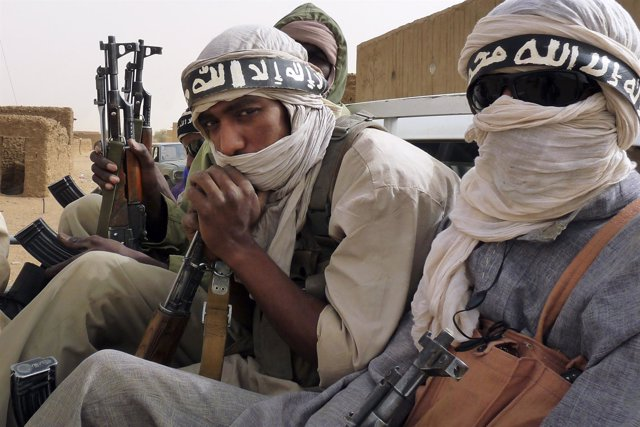 Milicianos islamistas de Ansar Dine, en el norte de Malí
