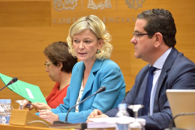 Gabriela Bravo en la Comisión de Presupuestos de las Corts