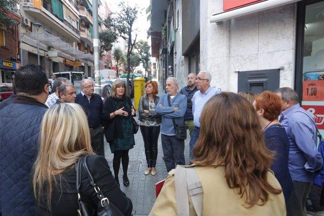 La alcaldesa de L'Hospitalet, Núria Marín, ha presentado las obras de la rambla