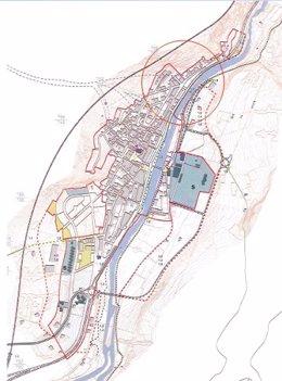 Plano de la zona Bossòst en la que se ubicará un nuevo hotel
