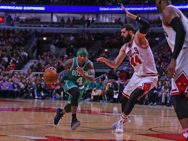 Mirotic en el Boston Celtics - Chicago Bulls