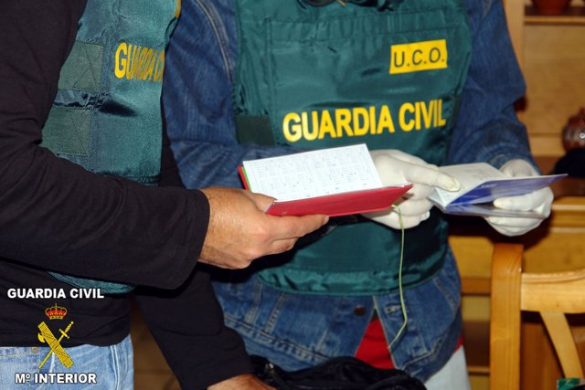 Foto de archivo de un agente de la UCO de la Guardia Civil