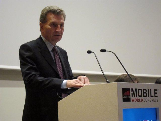 El comisario europeo de Economía y Sociedad Digital, Günther Oettinger