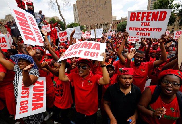 Protestas en Sudáfrica contra Jacob Zuma
