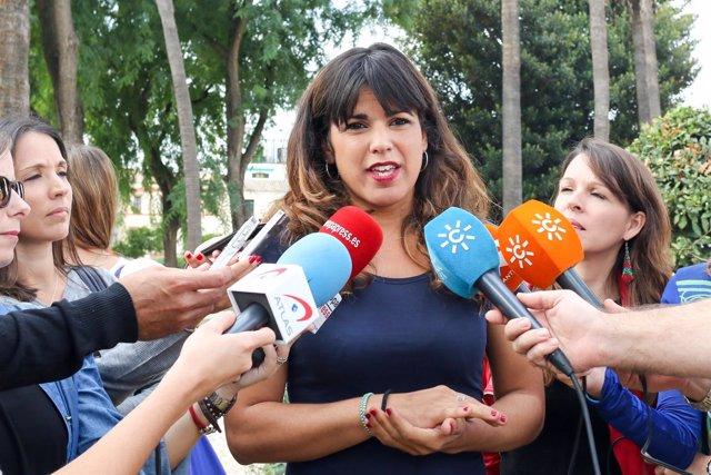 Teresa Rodríguez, hoy ante los medios