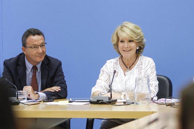 Esperanza Aguirre e Íñigo Henríquez de Luna
