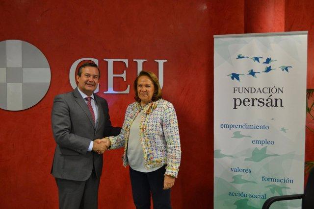Firma de convenio entre Fundación Persán y San Pablo CEU Andalucía