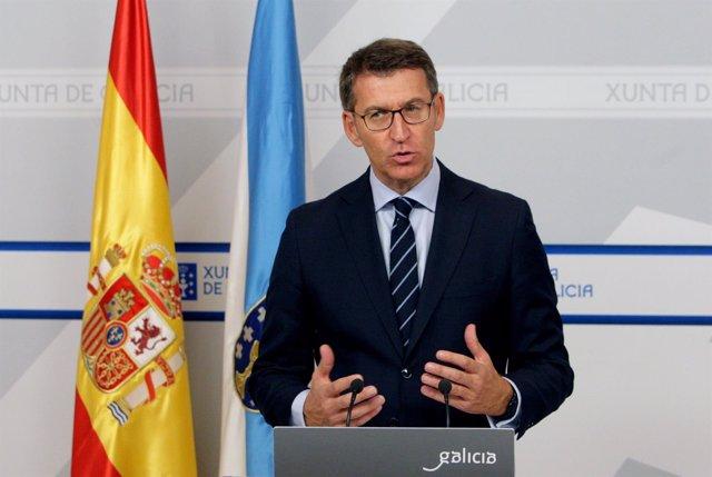 Alberto Núñez Feijóo comparecerá en rolda de prensa para dar conta dos asuntos t