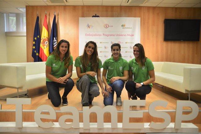 Sorribes, Carbonell, Marín y Pareja, embajadoras de Universo Mujer