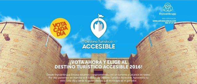 Campaña para la elección de la ciudad con mejor accesibilidad en turismo