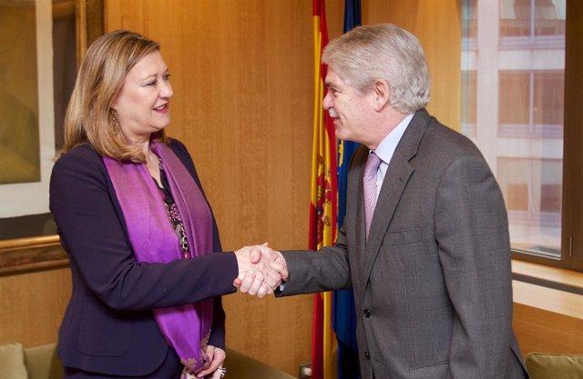 Pilar del Olmo junto a Alfonso María Dastis