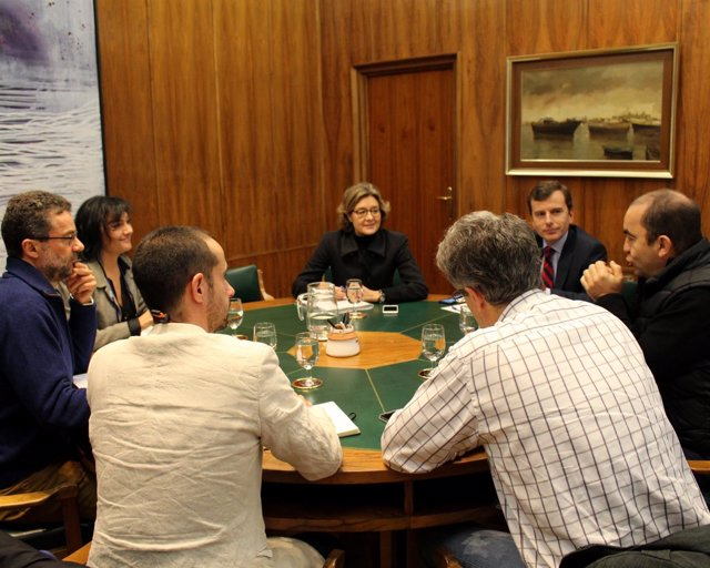 Reunión de García Tejerina y Saavedra con los representantes del G5 ambiental