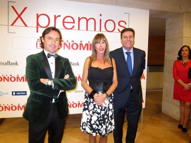 Fernández Carriedo (dcha) y Alberto Cagigas, en la gala de los premios.