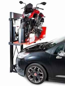 GarageLift, un elevador de motos para ahorrar espacio en el garaje