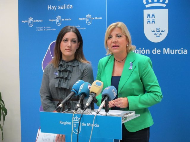 Violante Tomás y Alicia Barquero, en la rueda de prensa