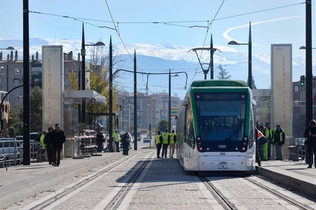 Pruebas del Metro de Granada.
