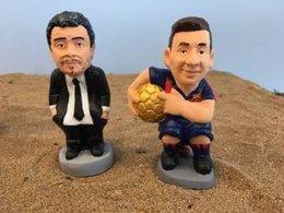 Luis Enrique y Messi, nuevos caganers