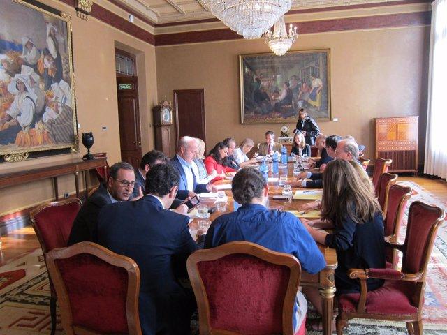 Reunión de la Junta de Portavoces en la Junta General del Principado de Asturias
