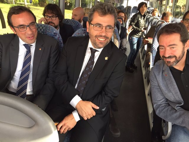 Josep Rull, Andreu Francisco y David Ricart