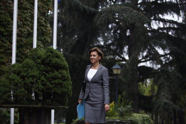 María Dolores de Cospedal llega a Moncloa