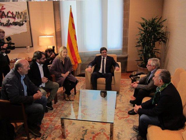 J.C.Gallego ,Camil Ros, Neus Munté, C.Puigdemont, I.F. Toxo, Josep Maria Alvarez