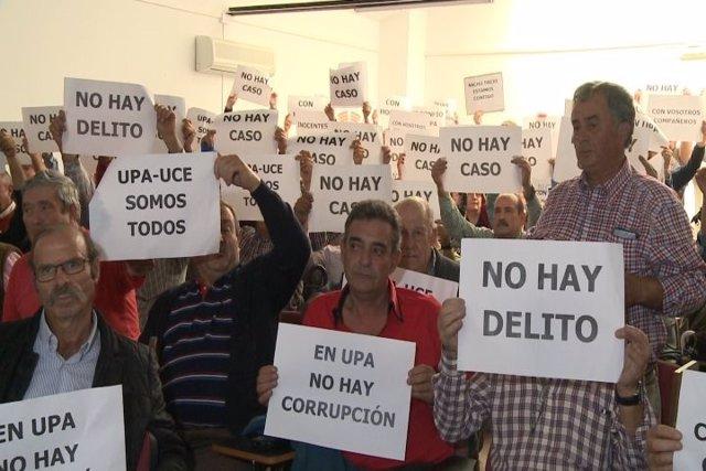 Afiliados apoyan a UPA-UCE Extremadura