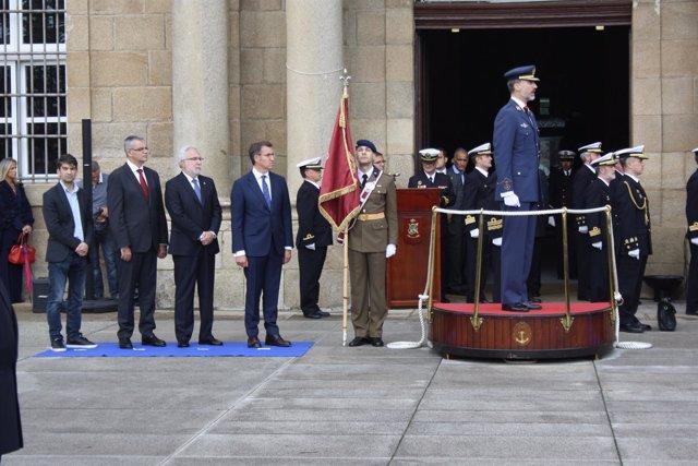 El rey Felipe VI en el Arsenal Militar de Ferrol