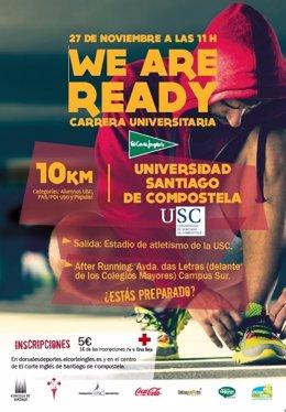 Cartel de la carrera en Santiago del Circuito Universitario ECI