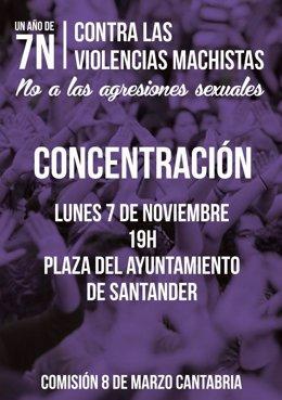 Cartel de la concentración en Santander